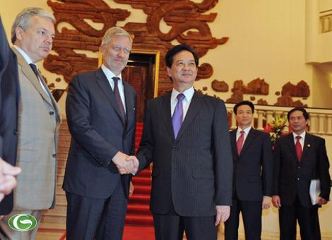 Thủ tướng Nguyễn Tấn Dũng: Việt Nam sử dụng hiệu quả nguồn vốn ODA của Bỉ