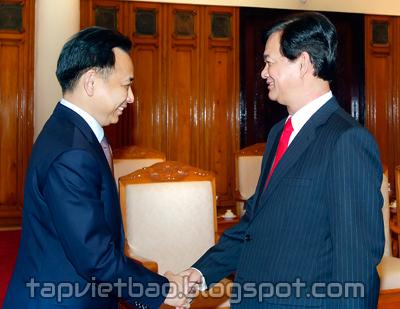 Thủ tướng Nguyễn Tấn Dũng tiếp Bộ trưởng Thương mại Thái Lan