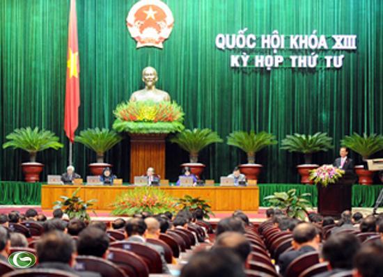 Thủ tướng Nguyễn Tấn Dũng trình bày báo cáo tình hình Kinh tế - Xã hội