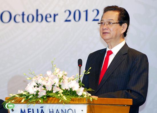 Thủ tướng Nguyễn Tấn Dũng phát biểu khai mạc Hội nghị Bộ trưởng ASEM về Lao động-Việc làm lần thứ 4