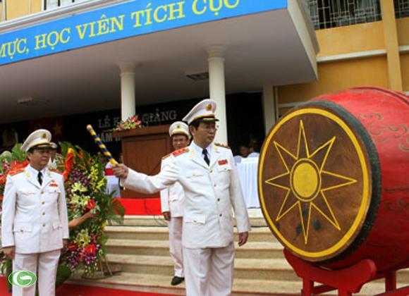 Hôm 3/10, Bộ trưởng Trần Đại Quang tới dự khai giảng tại Học viện An ninh nhân dân
