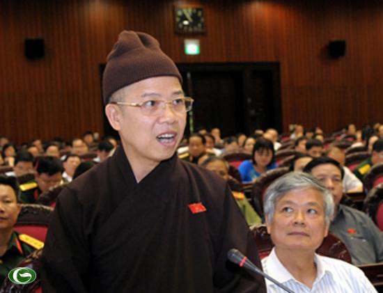 Đại biểu Thích Thanh Quyết (Quảng Ninh).